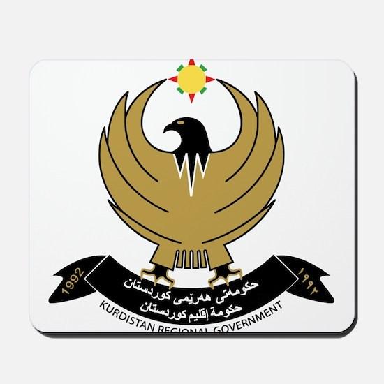 Kurdistan Coat of Arms Mousepad