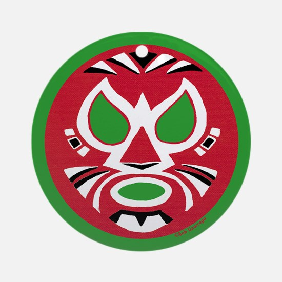 Masked Wrestler Christmas Ornament (Round)