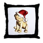 Pup Santa Throw Pillow