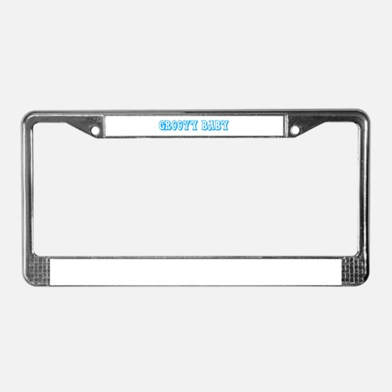 Groovy baby License Plate Frame