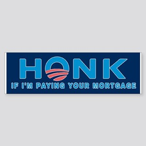 Honk No Obama Bumper Sticker