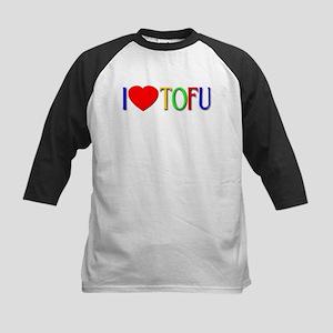 I Love Tofu Kids Baseball Jersey