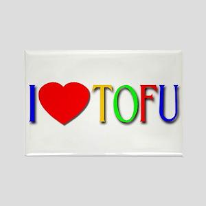 I Love Tofu Rectangle Magnet