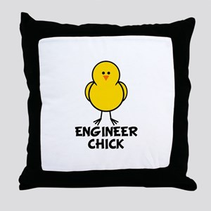 Engineer Chick Throw Pillow