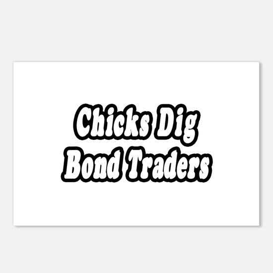 """Chicks Dig Bond Traders"" Postcards (Package of 8)"