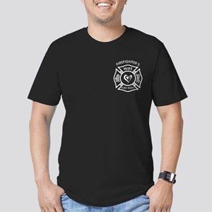 Firefighters Wife Men's Fitted T-Shirt (Dark)