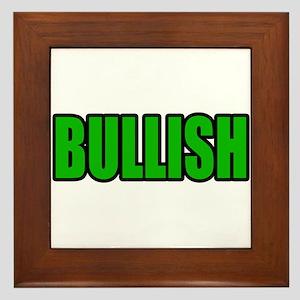 """""""BULLISH"""" Framed Tile"""