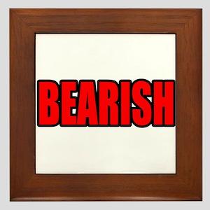 """""""BEARISH"""" Framed Tile"""