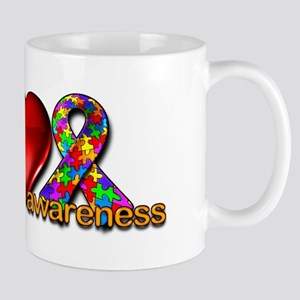 Peace, Love, Awareness Mug