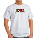 Peace, Love, Awareness Light T-Shirt