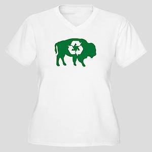 Buffalo Recycle Women's Plus Size V-Neck T-Shirt