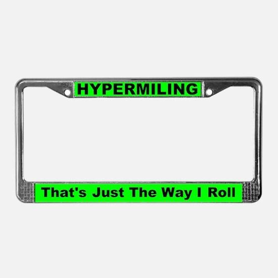 Hypermiling License Plate Frame