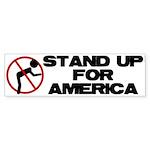 Stand For America Bumper Sticker (10 pk)