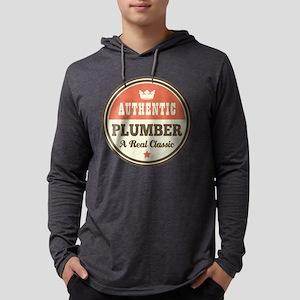 Plumber Vintage Funny Long Sleeve T-Shirt