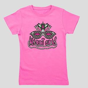 Mardi Gras Mask and Beads Women's Dark T-Shirt