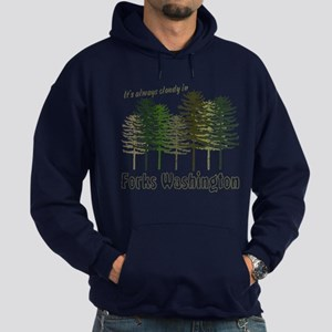 Always Cloudy in FORKS Hoodie (dark)