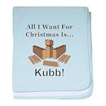 Christmas Kubb baby blanket