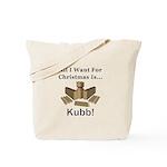 Christmas Kubb Tote Bag