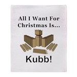 Christmas Kubb Throw Blanket