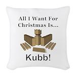 Christmas Kubb Woven Throw Pillow