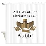 Christmas Kubb Shower Curtain