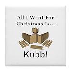 Christmas Kubb Tile Coaster