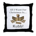 Christmas Kubb Throw Pillow