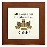 Christmas Kubb Framed Tile