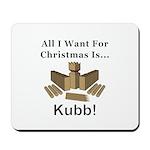Christmas Kubb Mousepad