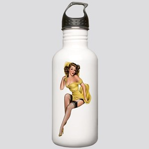 Yellow Pin Up Stainless Water Bottle 1.0L