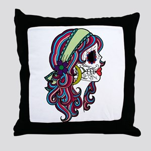 Sugar Skull 070 Throw Pillow