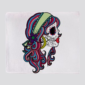 Sugar Skull 070 Throw Blanket