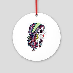 Sugar Skull 070 Round Ornament