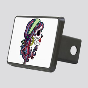 Sugar Skull 070 Rectangular Hitch Cover