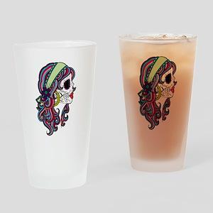 Sugar Skull 070 Drinking Glass