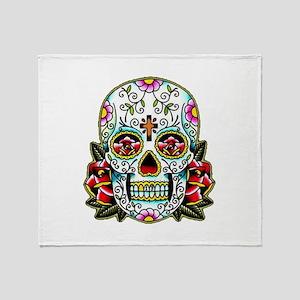 Sugar Skull 067 Throw Blanket
