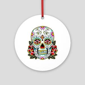 Sugar Skull 067 Round Ornament