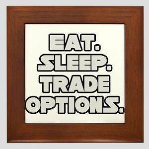 """""""Eat. Sleep. Trade Options."""" Framed Tile"""