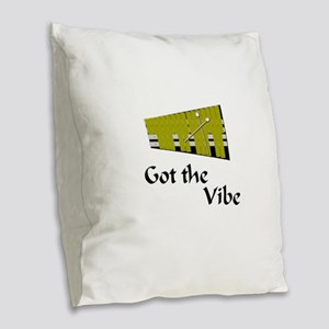 funny vibraphone vibes mallet Burlap Throw Pillow