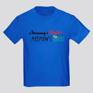 Mommy's Devil, Meemaw's Angel Kids Dark T-Shirt