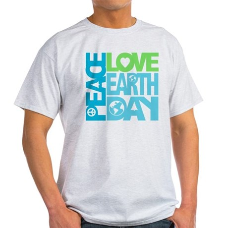 Peace Love Earth Day Graphic Light T-Shirt