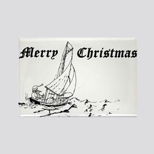 Sailor Santa Rectangle Magnet