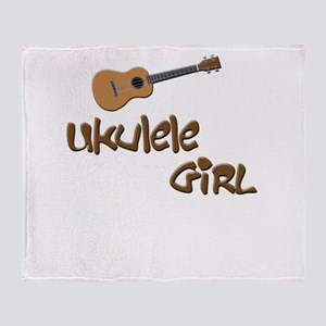 ukulele girls Throw Blanket