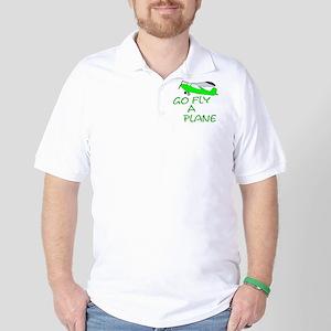 funny airplane Golf Shirt