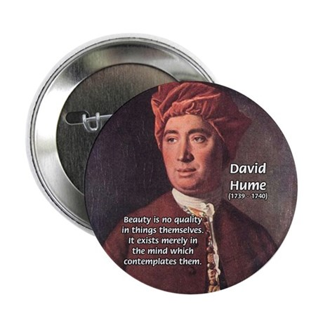 """David Hume on Beauty 2.25"""" Button (10 pack)"""