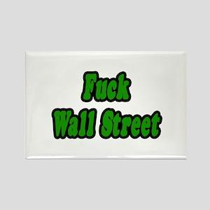 """Fuck Wall Street"" Rectangle Magnet"