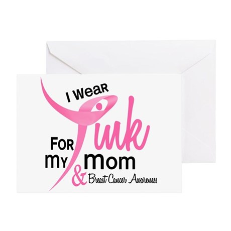 I Wear Pink For My Mom 41 Greeting Card