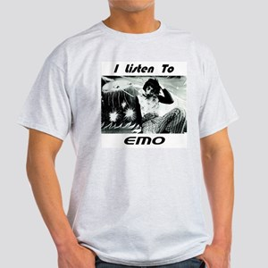 I Listen To Emo Ash Grey T-Shirt