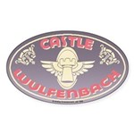 Castle Wulfenbach Travel Oval Sticker
