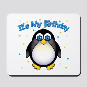 Birthday Penguin Mousepad